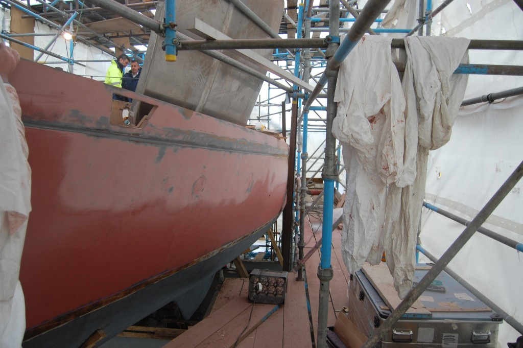 During Refit - Prolines Naval Architects